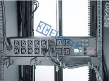 Bố trí ổ cắm điện cho tủ rack