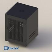 C-Rack 12U-D600 (treo tường) - Cánh lưới - Màu đen