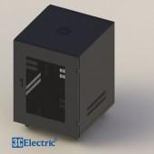 C-Rack 12U-D600  (Treo tường) - Cánh Mica - Màu đen