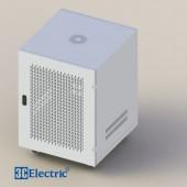 C-Rack 12U-D600 (Treo tường) - Cánh lưới - Màu trắng