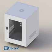 C-Rack 12U-D600 (Treo tường) - Cánh Mica - Màu trắng