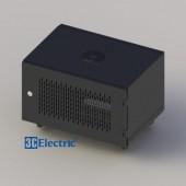 C-Rack 06U-D400 (Treo tường) - Cánh lưới - Màu đen
