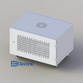 C-Rack 06U-D400 (Treo tường) - Cánh lưới - Màu trắng