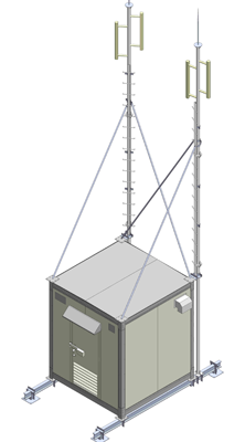 tram bts shelter, shelter container, Telecommunications Shelter