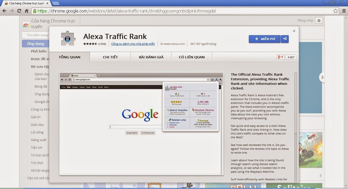Hướng Dẫn Cài Đặt Alexa Toolbar Trên Trình Duyệt Web