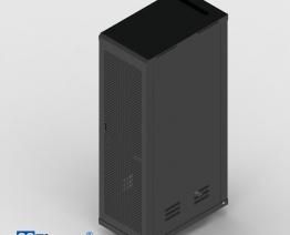 Tủ mạng C-Rack 42U-D1070 – Cánh cửa lưới- Màu đen