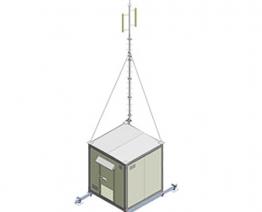 Trạm BTS có lắp Antena trên nóc 3C-SH2700WD2560T60A