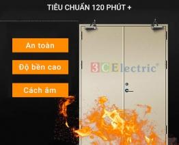 Cửa ngăn cháy đặc biệt tiêu chuẩn 120+ phút loại cửa đôi