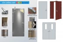 Cấu tạo cửa chống cháy do 3CElectric sản xuất