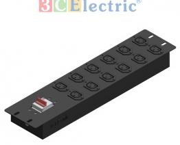 Ổ điện lắp dọc tủ 20U, 12 ổ cắm C19, công suất Max 30A, MCB 2P 32A