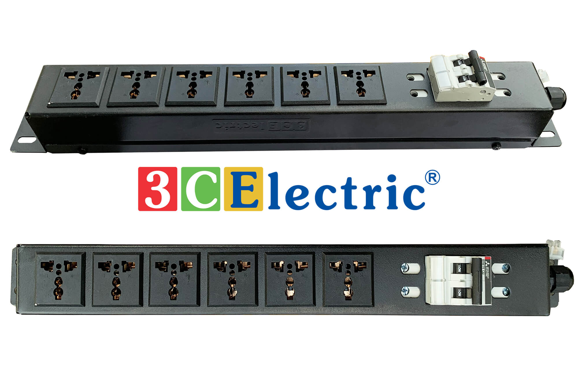 Ổ điện 19 06 ổ cắm chuẩn đa dụng có MCB 2P 32A