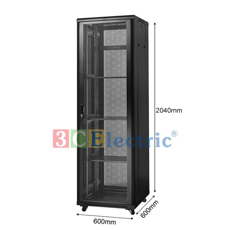 Tủ Mạng 42U D600 màu đen