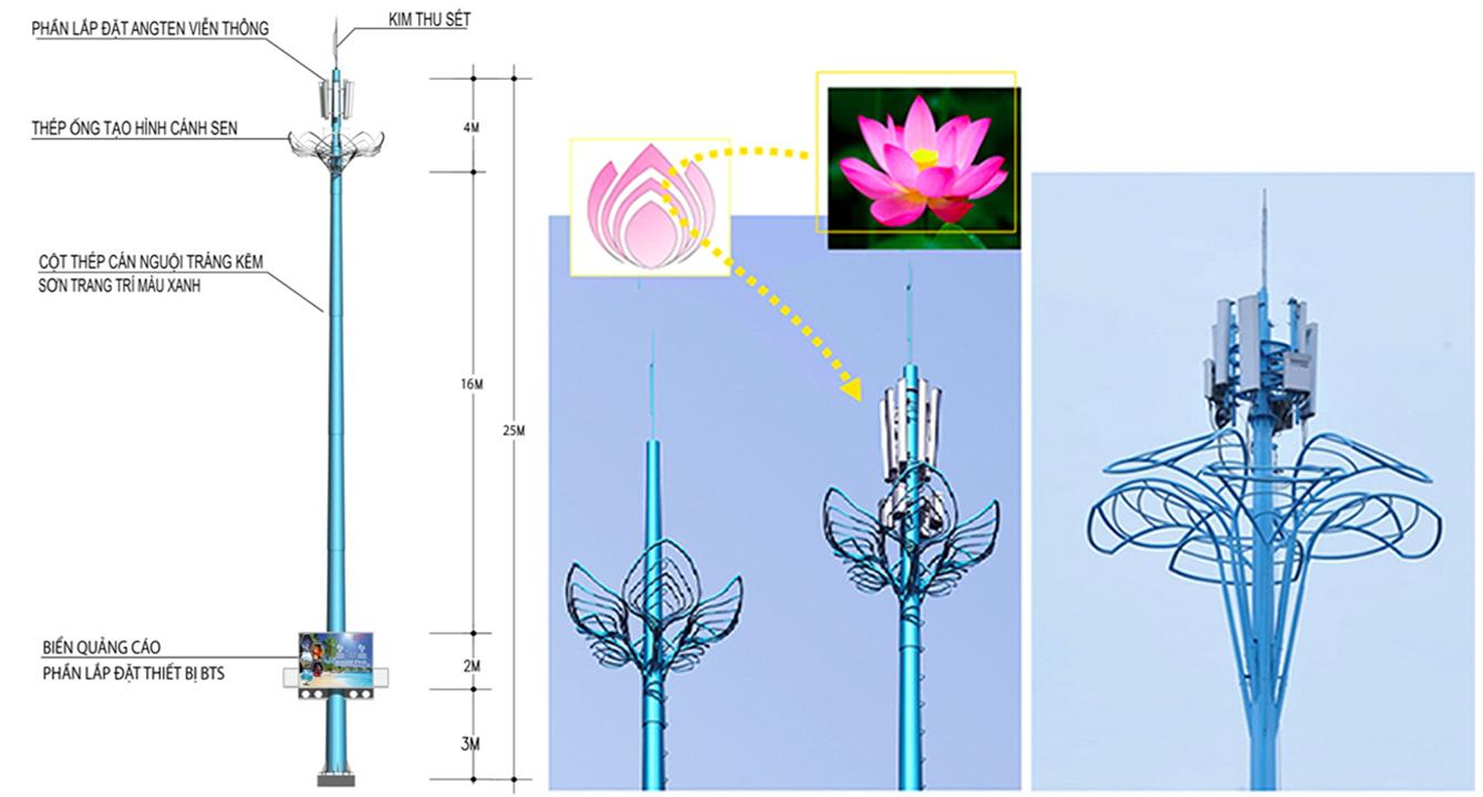 Cột anten thân thiện