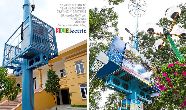 Trạm viễn thông BTS 3CElectric – góp phần làm đẹp mĩ quan đô thị