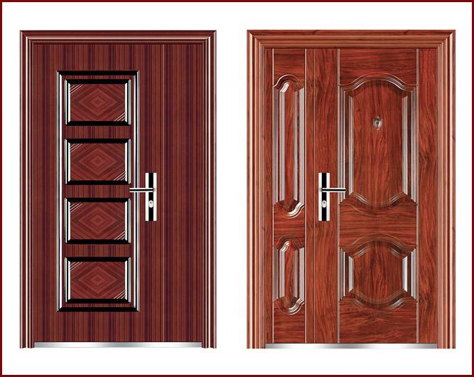 cửa thép giả gỗ chống cháy