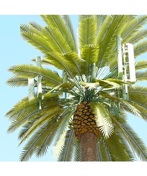 Cột anten monople nguỵ trang thành cây cọ