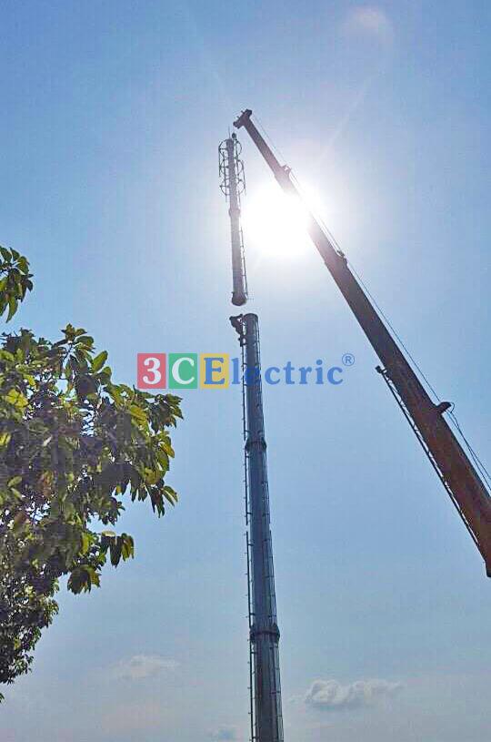 Cột anten monople 3CElectric sản xuất và thi công