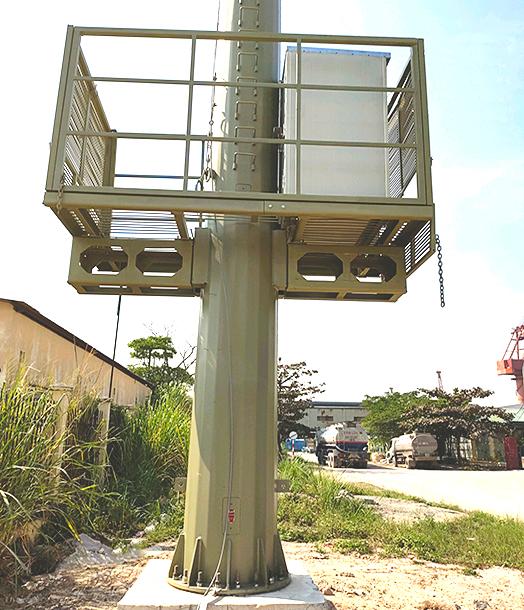trạm viễn thông lắp cột anten monople