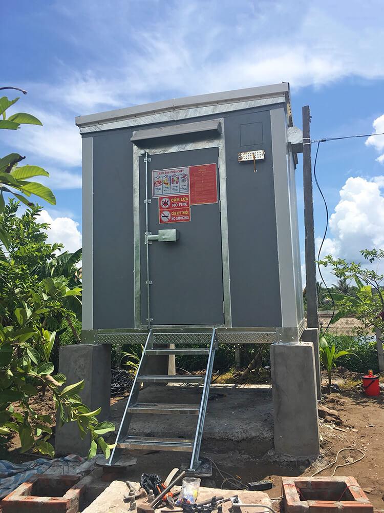 lắp đặt trạm bts shelter tại Nam Định