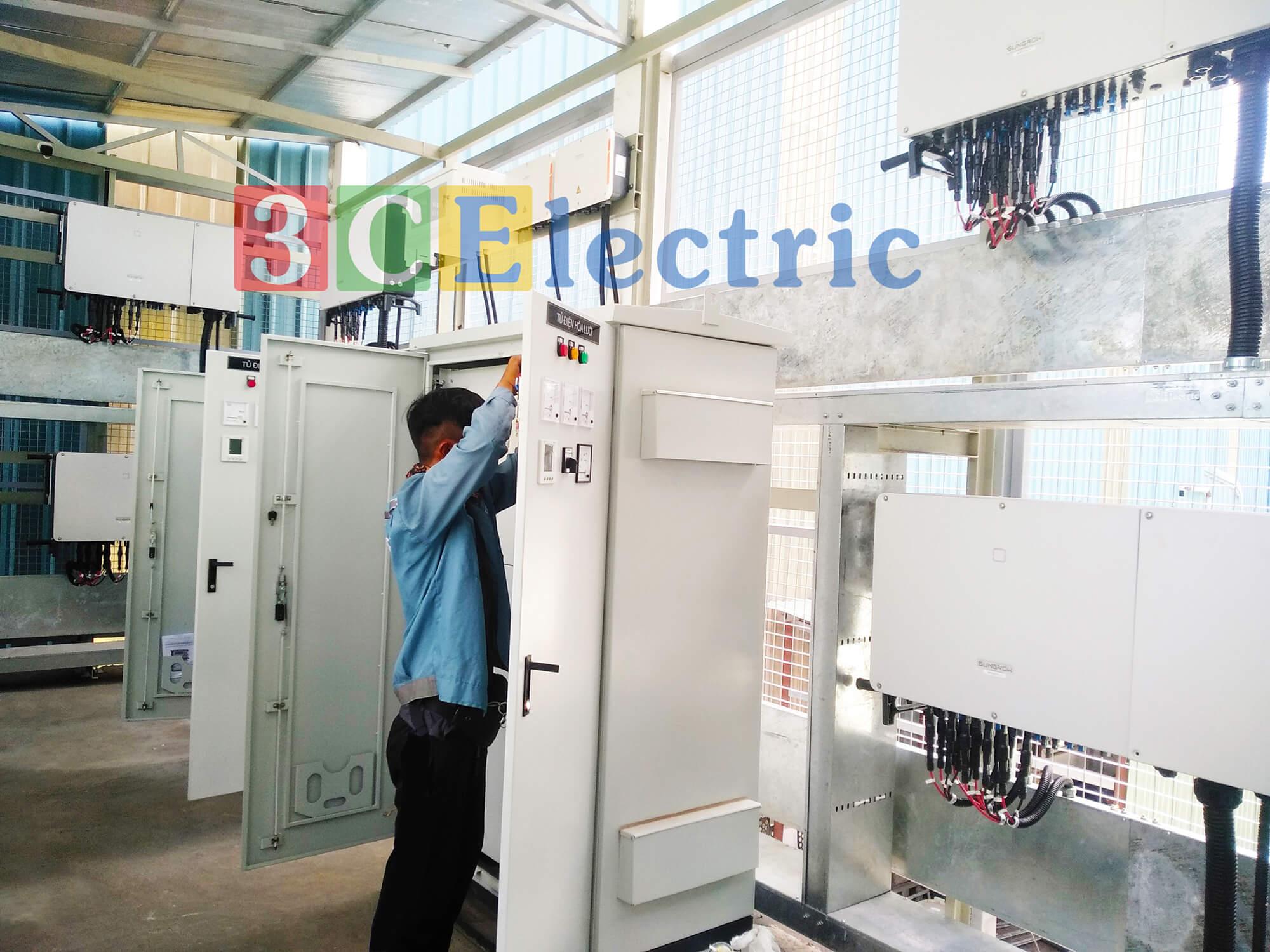 Tủ điện solar của 3CElectric tại dự án