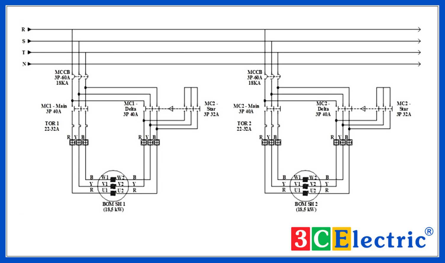 mạch tủ điện điều khiển bơm