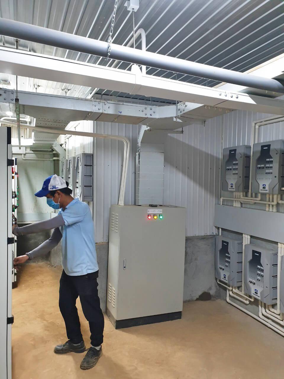 Cung cấp tủ điều khiển cho dự án trại heo Bình Phước