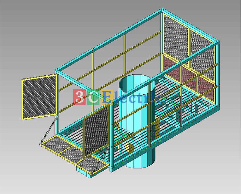 Bản vẽ 3D giá đỡ phòng thiết bị mini shelter