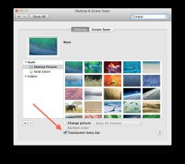 Cách quản lý các thanh trình đơn trong OS X
